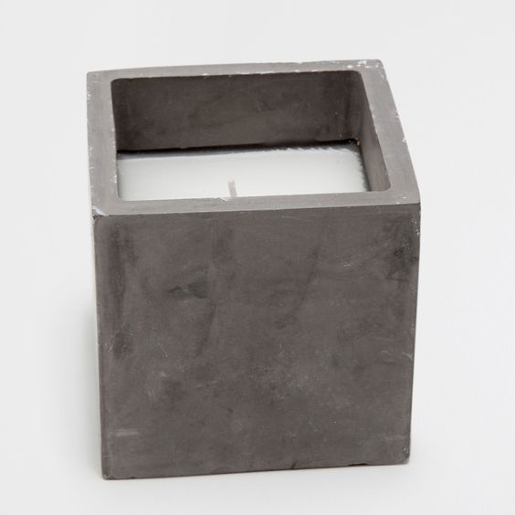 Vela recipiente cimento quadrada - Velas - Decoração | Zara Home Portugal