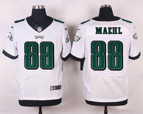 ... Mens Philadelphia Eagles 88 Jeff Maehl White Road NFL Nike Elite Jersey  Midnight ... c043f5e77