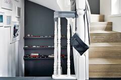 Treppenhausgestaltung Schoner Wohnen Dunkle Wandfarbe Schrank Farbe Wandfarbe