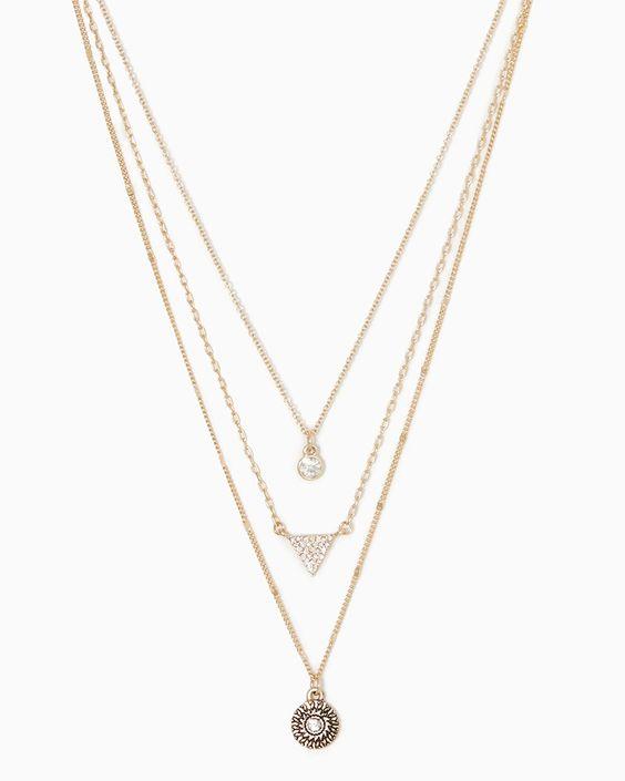 charming charlie | Brynn Layered Charm Necklace #charmingcharlie