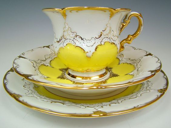 Vintage porcelain tea set by Meissen, Germany