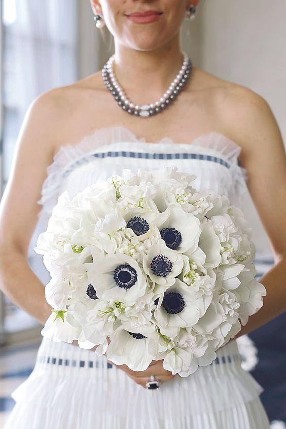 Monochrome Bridal Bouquet