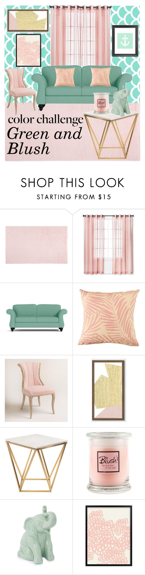 Threshold home decor shop for threshold home decor on polyvore -  Green And Blush By Prigelprasojo Liked On Polyvore Featuring Interior Interiors