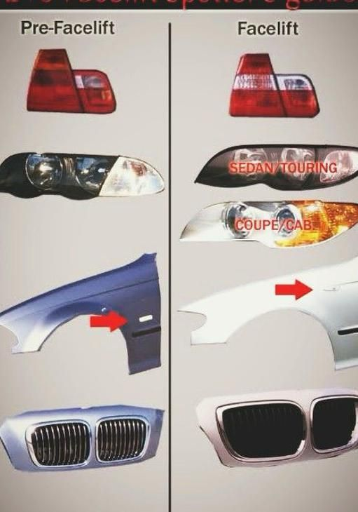 Bmw E46 Difference Between Pre And Post Facelift In 2020 Bmw E46 Sedan Bmw Touring Bmw E46