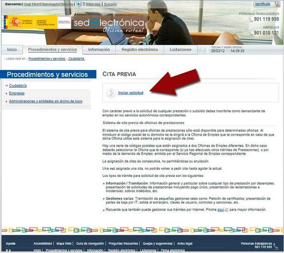 Cita previa INEM por INTERNET