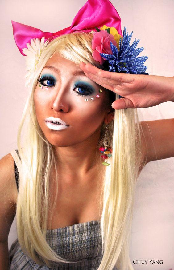 Japanese Ganguro girl.