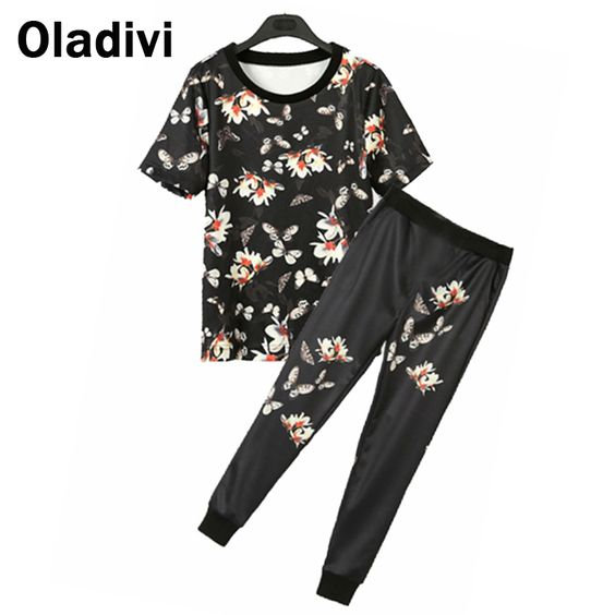 Find More Women's Sets Information about 5XL Plus Size Women Two Piece Set Pants and Top 2piece Summer Style Sets Fashion Florwer Printed Shirt Blouse and Trousers M8315,High Quality blouse neck,China blouse chiffon Suppliers, Cheap blouse back from Oladivi Group - Minabell Fashion Store on Aliexpress.com