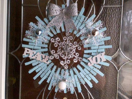 Corona De Navidad Con Pinzas Para Ropa Clothes Pin Wreath Diy