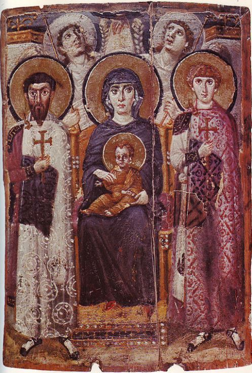 Icon of the Virgin Mary and Child (6th century), St. Catherine's Monastery