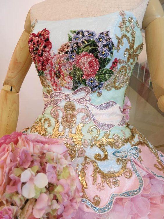 Stella De Libero Wedding Dresses | ニーグル(Pink)