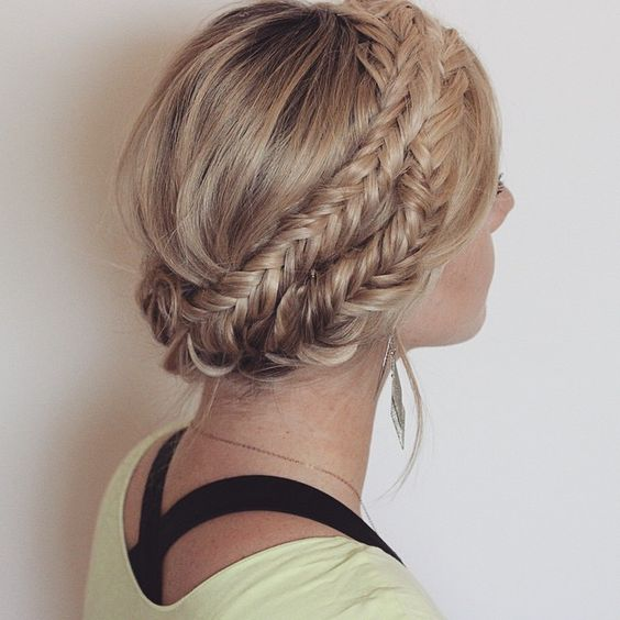 Fishtail braids. • Inspired by @amberfillerup