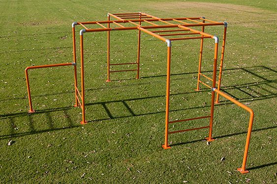 Free Standing Height Adjustable Monkey Bars For Your Backyard Diy Monkey Bars Monkey Bars Backyard