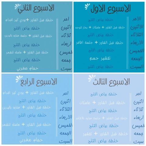 Rod Beauty Blog جدول عنايه في شهر رمضان Blog Sos Blog Posts