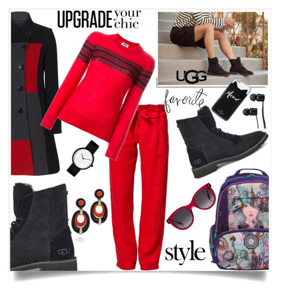 """""""The New Classics With UGG: Contest Entry"""" by hani-bgd ❤ liked on Polyvore featuring Benetton, UGG, White Label, Sonia Rykiel, Nicole Lee, Vans, Alexander McQueen, Kate Spade, Heidi Swapp and Mercedes-Benz"""