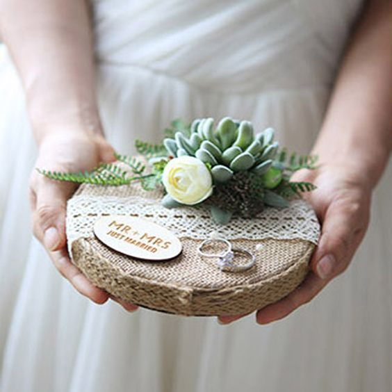 1pcs lot Unique Round Handmade Forest Wooden Ring pillow Engagement Marriage day Cushion Wedding Ring Bearer pillows-in Party DIY Decorations from Home & Garden on Aliexpress.com | Alibaba Group