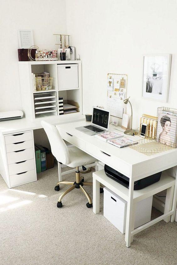 47 Inspiring Home Office Organization Ideas Office Desk Ideas Of Office Desk Office Home Office Organization Home Office Design Living Room Sets Furniture