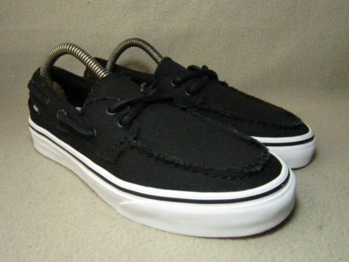 Vans-Off-the-Wall-Unisex-Black-Canvas-formadores-Uk-5-5-UE-38-5