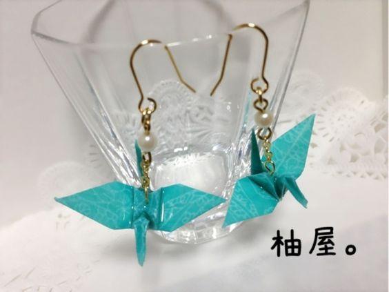 【卒業式】折鶴ピアス・イヤリング