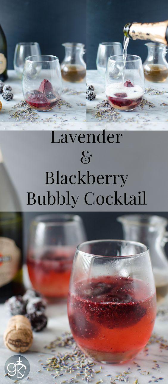 Lavender Syrup Blackberry Cocktail - Blackberry sorbet and Lavender ...