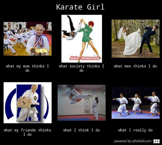 Karate girl - What people think I do, What I really do