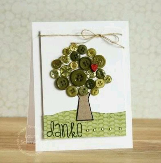 Good way to use buttons! Would love to make a fall tree for a wall hanging! Or maybe four different season trees?