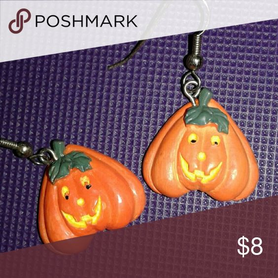 Pumpkins. Cute, adorable, porcelain Pumpkins Happy Halloween....... Jewelry Earrings