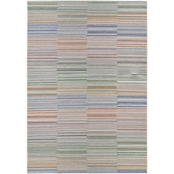 Power-Loomed Couristan Cape Shoreham/Ivory-Multi Indoor/Outdoor Rug (6'6 x 9'6)