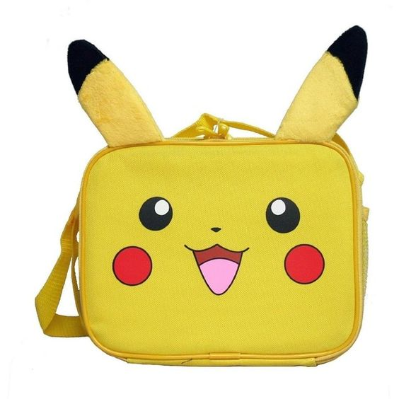 Pokemon Nintendo Plush Pikachu Lunch Bag (€11) ❤ liked on Polyvore featuring home, kitchen & dining, pokemon and nintendo
