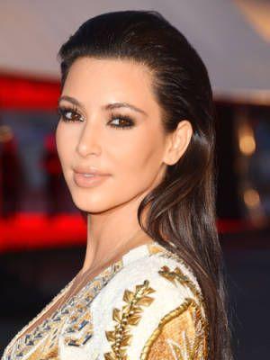 23 Sexy Celeb Hairstyles - Kim Kardashian's slicked-back strands