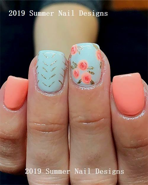 33 Cute Summer Nail Design Ideas 2019 Nail With Images Nail