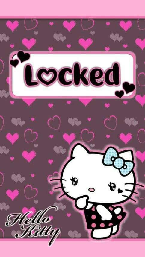Hello Kitty Pink Black Lockscreen Wallpaper Hello Kitty Iphone Wallpaper Hello Kitty Backgrounds Hello Kitty Wallpaper