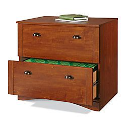"$129 Realspace® Dawson 2-Drawer Lateral File Cabinet, 29""H x 30 1/2""W x 21 3/4""D, Brushed Maple"