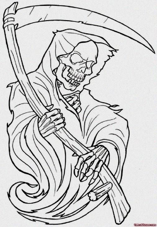 Cool Tattoos Drawings Ideas In 2020 Tattoo Stencil Outline Grim Reaper Tattoo Reaper Tattoo