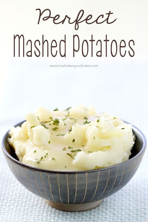Perfect mashed potatoes, Mashed potatoes and Potatoes on Pinterest