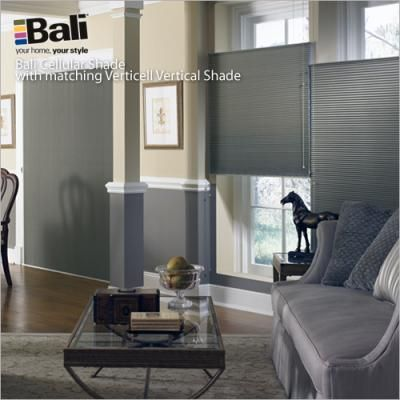 "Bali DiamondCell - 3/8"" Midnight Blackout Cellular Shades 