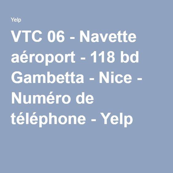 VTC 06 - Navette aéroport - 118 bd Gambetta - Nice - Numéro de téléphone - Yelp