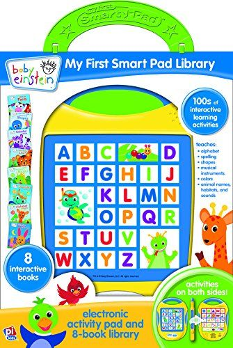 baby einstein tm my first smart pad tm library electronic activity pad and 8 book library by. Black Bedroom Furniture Sets. Home Design Ideas