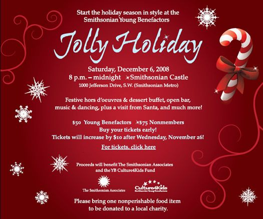 Christmas, Holiday Party, brown paper invite with red \ white - holiday templates for word