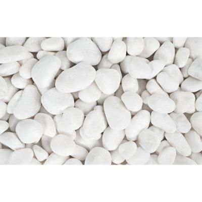 Rain Forest 20 lb. Large Snow White Pebbles-RFSW3 - The Home Depot