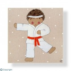 Cuadro infantil Niño Karateka
