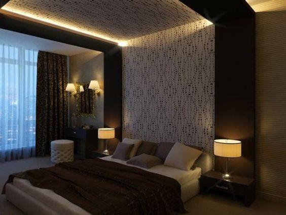 faux plafond suspendu dans une chambre coucher