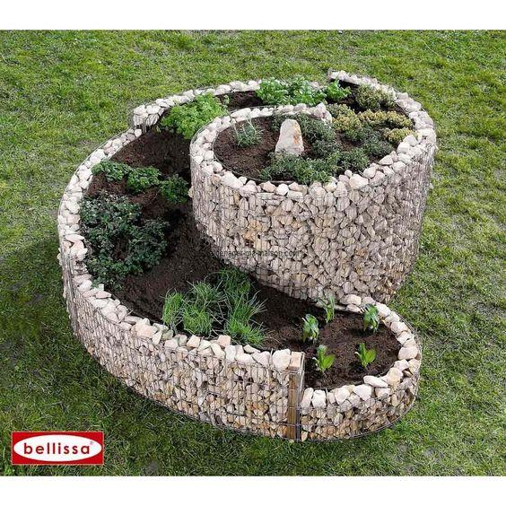 jardini re spirale xxl gabion sans galet google et recherche. Black Bedroom Furniture Sets. Home Design Ideas