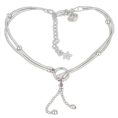 Qiyun Lot of 2 Silver Tone Dangle Charm Chain Ankl...($5.22)