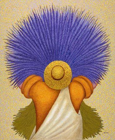"Lowell Herrero (American, born 1921) ~ ""Lavender Man"""