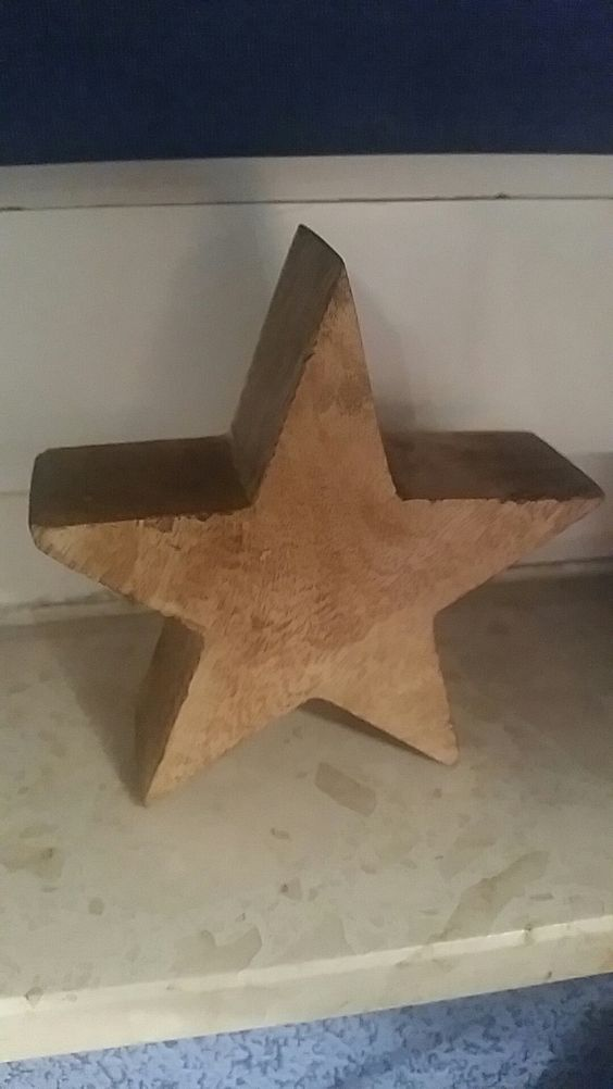 Schöne Holz deko in Sternen form1