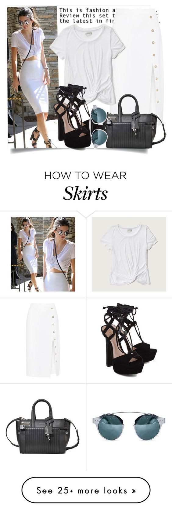 """""""Get The Look - Kendall Jenner"""" by hattie4palmerstone on Polyvore featuring Cushnie Et Ochs, Abercrombie & Fitch, Schutz, Zadig & Voltaire, GetTheLook, kendalljenner and polyvoreeditorial"""