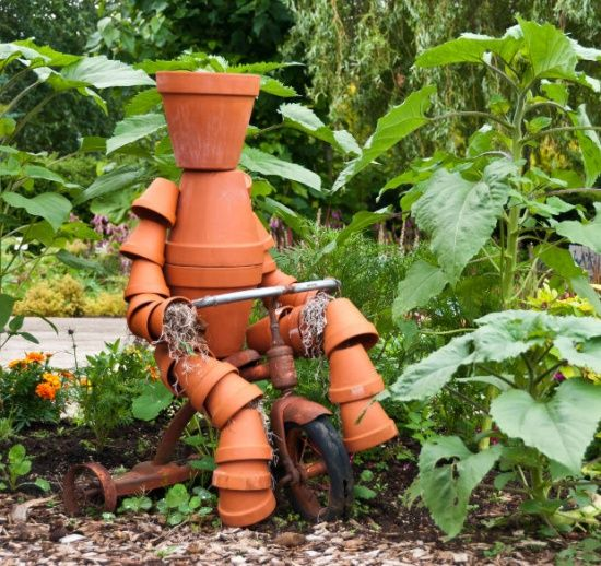Terra Cotta Pot People | Yard Art / How to Build a Terra Cotta Clay Pot Garden Person