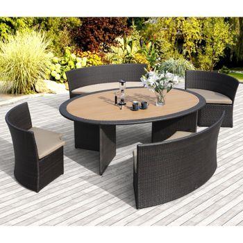 Costco venice 5 piece patio dining set by sirio deck for Ensemble patio costco