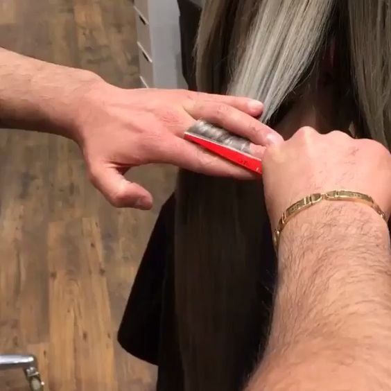 Split end only haircut by @basharhairstyles , I need one of these!!