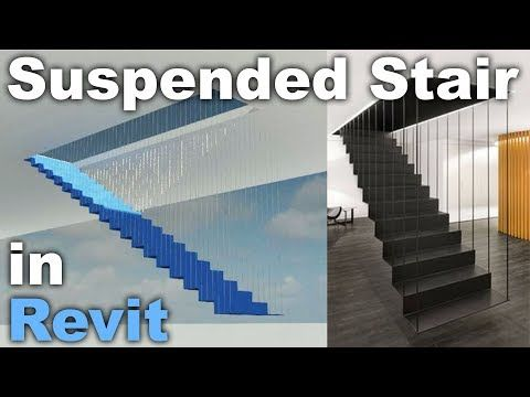 Youtube Suspended Stairs With Images Revit Tutorial Architecture